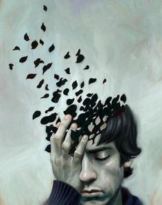 Fragments falling apart