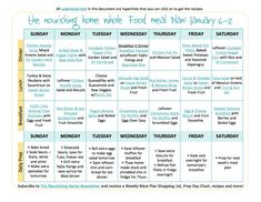 Introducing Our New Bi-Weekly Meal Plan! with links to each of the delicious Whole Food Recipes featured!