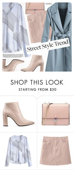 """Pink & Blue"" by pokadoll ❤ liked on Polyvore featuring Stuart Weitzman and Industrie"