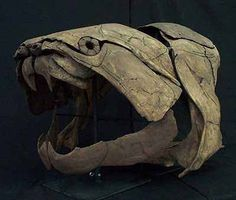 Dunkleosteus--an armored predatory fish from over 350 million years ago. Instead of teeth, it had flat, overlapping plates of bone that worked together like shears.