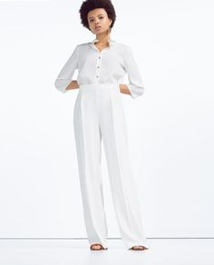 ZARA - COLLECTION SS16 - FLOWING WIDE-CUT TROUSERS