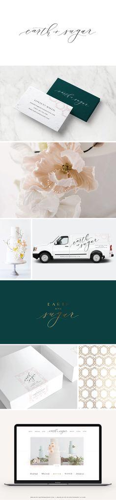 Modern Brand and Website Design - Modern Calligraphy Logo - Saffron Avenue - Brand Board, Inspiration Board, Modern Logo Design, Website Design, Website Layout, Creative Logo Design, Branding Board, Calligraphy Logo