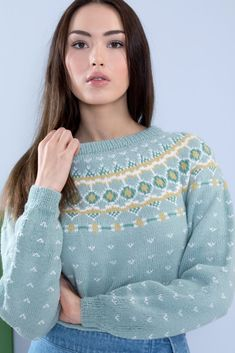 Gull, Drops Design, Western Wear, Crochet Pattern, Diy And Crafts, Pullover, Knitting, Coat, Sweaters