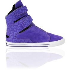 Supra Womens Society Purple Cheetah Print High Top Shoe