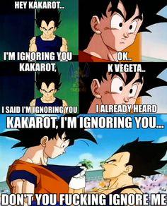 Haha Vegeta and clueless Goku