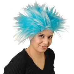 Blue Punk Wig | Party Supply Store | Novelty Toys | Carnival Supplies…