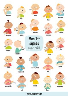 My first signs with baby - Bébé - bebe Diy Toys Newborn, Toddler Toys, Baby Toys, Quilts Vintage, Random Kid, Baby Sign Language, Girl Language, Diy Bebe, Baby Blog