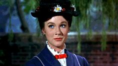 Julie Andrews started out on Broadway starring in shows like My Fair Lady, Camelot and The Boyfriend. Mary Poppins was her first major film role which won . Mary Poppins 1964, Julie Andrews Mary Poppins, Mary Poppins Movie, My Fair Lady, Congratulations Gif, Gif Animé, Animated Gif, Time Lords, Sound Of Music