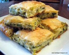 Leek and Cheese Pie - Prassopita (Πρασόπιτα) :  Kalofagas - Greek Food & Beyond