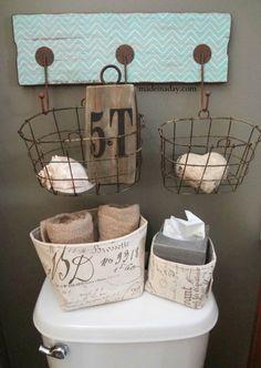 Hang baskets on wall hook...