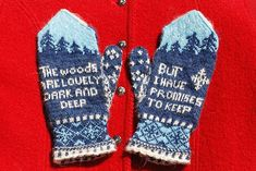 Ravelry: 18th Century Poetry Mittens : Robert Frost pattern by The Farm at Morrison Corner