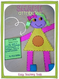 We've had so much fun with our geometry unit this year.  My kiddos have loved all of the hands-on activities and this adorable craft!  I thought it would be fun for kiddos to put different shapes together to create their very own shape person.
