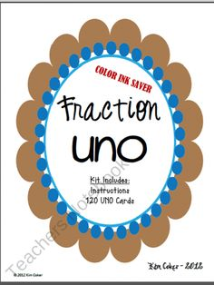 Fraction UNO - A Game of Equivalent Fractions