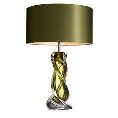 Eichholtz Design Silver and Clear Perspex Acrylic Table Lamp Silk