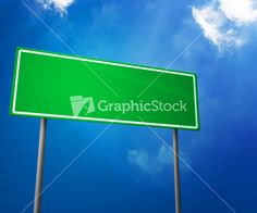 Download Green Blank Road Sign   @graphicstock.