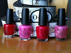 OPI MINNIE MOUSE Collection Set of 4 Nail Polish 0.5 oz (15 mL)   I hate pink but these colors are pretty