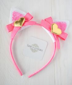 ~* Pink Kitty Love*~ Valentine Animal Ears