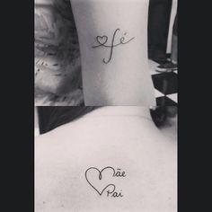Tattoo fé, pai mãe