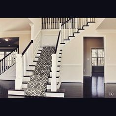 On instagram by designbydeana #homedesign #metsuke (o) http://ift.tt/1MXEWPv I'm envisioning my staircase in my foyer to be like this one. Initially we had only one railing going all the way down to the bottom floor. I thought to pull back the living room opening to 1) gain another railing for a nicer look and 2) to have a larger opening going into the living room. I'm so glad it's going to look like this instead of having the wall extend all the way to the bottom step. Can't wait to see the…