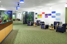 SSDG Interiors Inc. | workplace government: Fraser Health colour coded directory signage