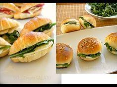 Panini e Cornetti per Buffet FATTI IN CASA,Ricetta facile - YouTube