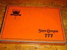 Vintage State Express 777 Cigarette Tin Ardath Tobacco London Leeds A