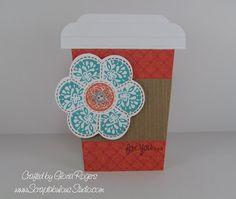 Coffee cup card using Stella