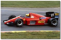 Michele Alboreto Ferrari F1/86 F1.1986 British GP Brands Hatch