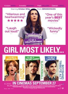 Girl Most Likely: Really funny and feel good! Gotta love Kristen Wiig's dry humour and comedic timing and a lovely (obviously slightly musical) appearance from the lovely Darren Criss. All in all, surprisingly unpredictable! Watch count: 1