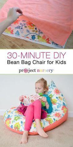 Remarkable Diy Sew A Kids Bean Bag Chair In 30 Minutes Beanbag Chair Camellatalisay Diy Chair Ideas Camellatalisaycom