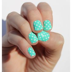 Mint Dots Nail Wraps ($8) ❤ liked on Polyvore featuring beauty products, nail care, nail treatments, nails, nail polish, bath & beauty, grey, makeup & cosmetics, blow dryer and hair blow dryer