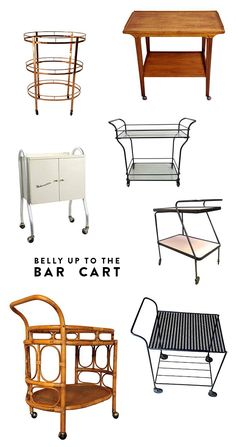 belly up to the bar cart.