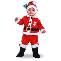 Disfraz de Papá Noel para Niños #Costume #Navidad #Santa #Claus #Bebe