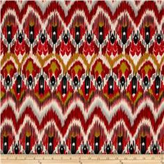 Stretch ITY Jersey Knit Ikat Red/Pink