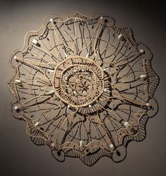 """Shona Wilson """"Heirloom"""" Assemblage: natural found materials (twigs, seedpods, bones) and found plastic 1500 x 1500 x 60mm"""