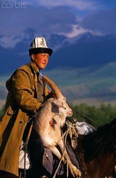 Shepherd in Kyrgyzstan. (V)