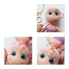 Crochet Dolls Free Patterns, Crochet Motifs, Crochet Doll Pattern, Freeform Crochet, Crochet Patterns Amigurumi, Amigurumi Doll, Crochet Horse, Crochet Rabbit, Ballerina Doll