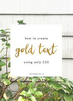 How to Create Gold Text With CSS | The Blog Market