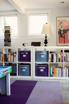 office/kid space divided w/ expedit ... A CUP OF JO: Los Angeles home tour