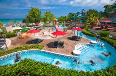 With 200-foot waterslides, a teen disco, and water placid enough for young ones, Beaches Negril Resort & Spa, an all-inclusive resort, is a sure-to-please choice for families. It also has a prime location along Seven Mile Beach, close to Pirates Island, a water park known for twisting slides, a 650-foot lazy river, and a SurfStream wave simulator.