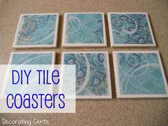 Decorating Cents: DIY Tile Coasters