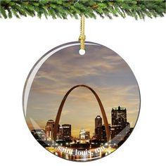 St. Louis Porcelain Christmas Ornament