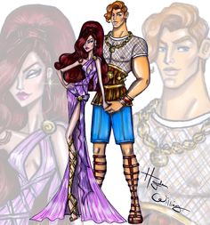 Hayden Williams Fashion Illustrations 'Disney Darling Couples' by Hayden Williams: Hercules & Megara ‪ Hayden Williams, Meg Hercules, Disney Hercules, Disney Divas, Disney Couples, Couple Illustration, Illustration Mode, Disney Princess Fashion, Disney Style