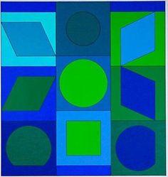 "Victor Vasarely ""Zaphir"" Original Signed/Numbered Op Art Serigraph no. 53/150"