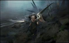 Riverbank - Sketch by Sergey Kolesov Sergey Kolesov, Concept Art Tutorial, Oil Portrait, Matte Painting, Creature Concept, You Draw, Sci Fi Fantasy, Art Portfolio, Artist At Work