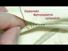 Zaubernaht, Matratzenstich/Leiterstich Neuauflage - magic stitch / invisible stitch - YouTube