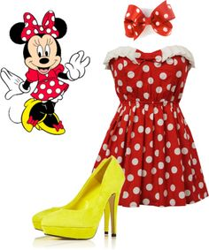 Minnie Mouse, created by awimber on Polyvore