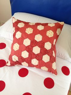 Cuscino in patchwork a mano