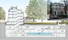 Plans: The basement is set to include a games room, gym, swimming pool, cinema and yoga studio.