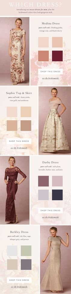 How to Coordinate Mother-of-the-Bride dresses with Bridesmaid Dresses @BHLDN